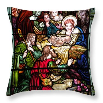 The Incarnation - Madonna And Child Throw Pillow by Kim Bemis