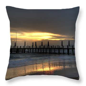 Throw Pillow featuring the photograph The Independent Yellow by Erhan OZBIYIK