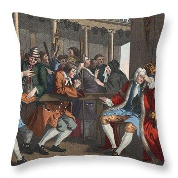 The Industrious Prentice Alderman Throw Pillow by William Hogarth