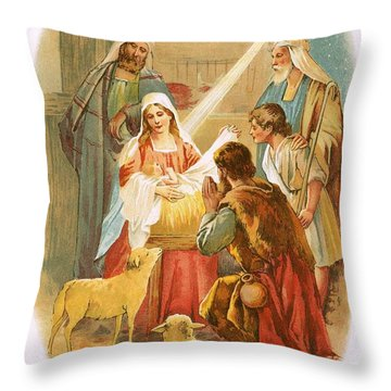 The Infant Jesus Throw Pillow by English School