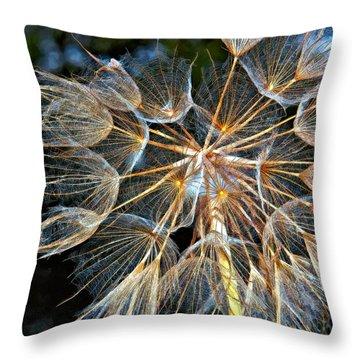 The Inner Weed Oil Throw Pillow by Steve Harrington