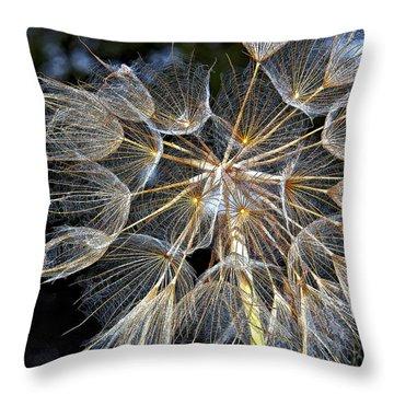 The Inner Weed Paint Throw Pillow by Steve Harrington