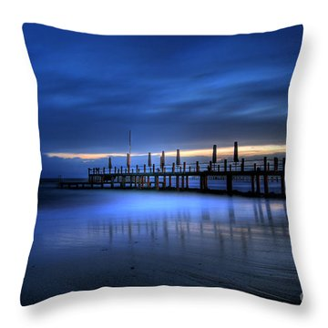 Throw Pillow featuring the photograph The Innocent White In Blue by Erhan OZBIYIK