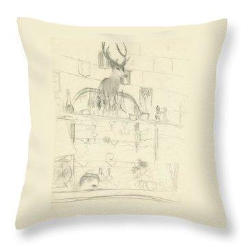 The Interior Of A Bar Throw Pillow