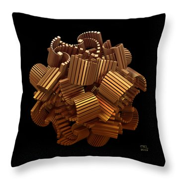Throw Pillow featuring the digital art The Interpretation Of Signs And Portents by Manny Lorenzo