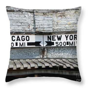 The Intersection II Throw Pillow by Michael Krek