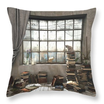 The Introvert Throw Pillow by Cynthia Decker