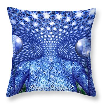 The Invention Of Duality Throw Pillow by Robby Donaghey