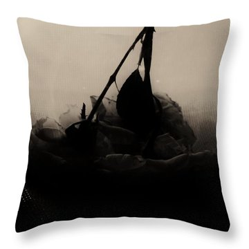 The Inverted Rose Throw Pillow by Jessica Shelton
