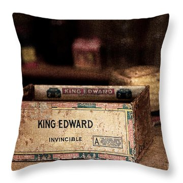 The Invincible King Edward Cigar Throw Pillow