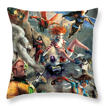 The Invincibles Throw Pillow by Ryan Barger