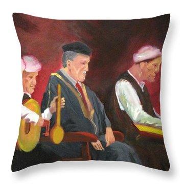 The Iraqi Maqam Throw Pillow