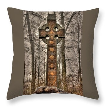 The Irish Brigade At Gettysburg  63rd-69th-88th New York Infantry St. Patricks Day 2012 Close-a Throw Pillow
