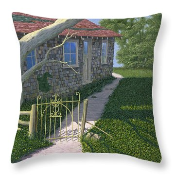 The Iron Gate Throw Pillow