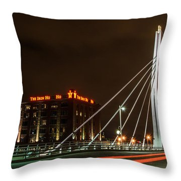 The Iron Ho Ho Throw Pillow