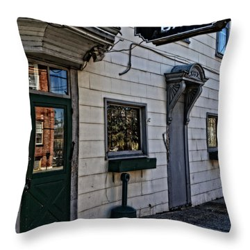 The Iron Horse Bar Throw Pillow by Mike Martin