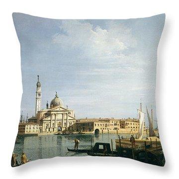 The Island Of San Giorgio Maggiore Throw Pillow by Canaletto