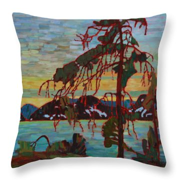 The Jack Pine After Tom Thomson Throw Pillow by Betty-Anne McDonald