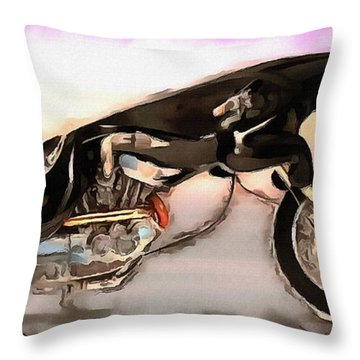 Throw Pillow featuring the photograph The Jaguar Cycle by Mario Carini
