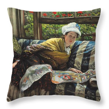 The Japanese Scroll Throw Pillow by Tissot