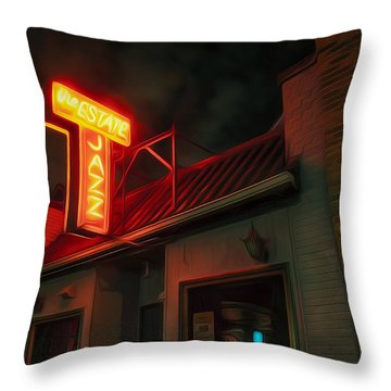 The Jazz Estate Throw Pillow