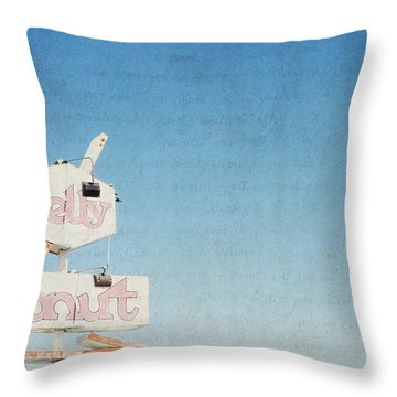 The Jelly Donut - California Throw Pillow by Lisa Parrish