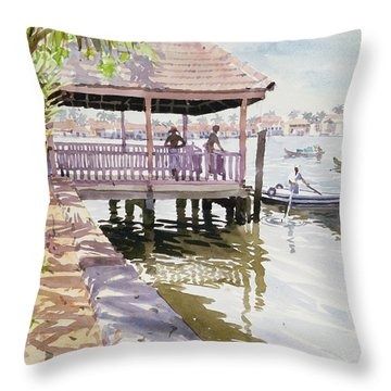 The Jetty Cochin Throw Pillow by Lucy Willis