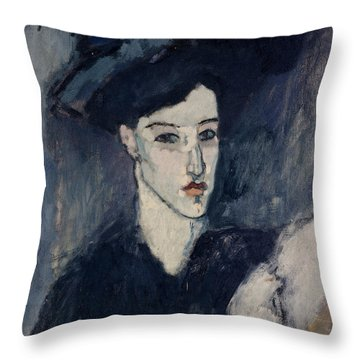 The Jewess Throw Pillow by Amedeo Modigliani