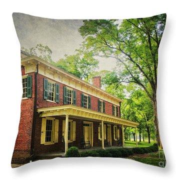 The John Stover House Throw Pillow