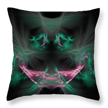 The Joker Throw Pillow by Bruce Nutting