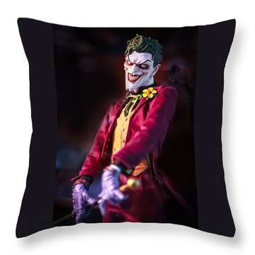 Throw Pillow featuring the photograph The Joker Dummy by Stwayne Keubrick