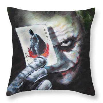 Heath Ledger Throw Pillows