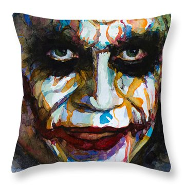 The Joker - Ledger Throw Pillow by Laur Iduc