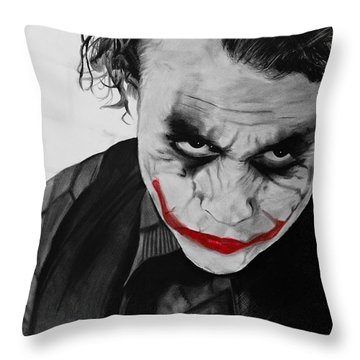 The Joker Throw Pillow by Robert Bateman