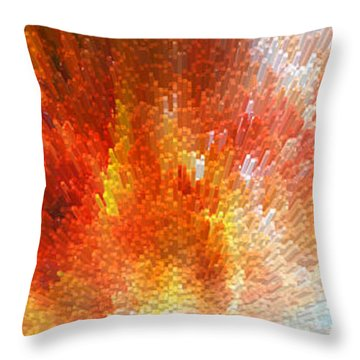 The Journey - Abstract Art By Sharon Cummings Throw Pillow by Sharon Cummings