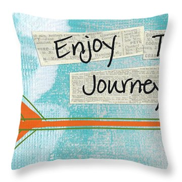 The Journey Throw Pillow by Linda Woods