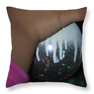 Throw Pillow featuring the photograph The Journey Santa's Little Helper by Ramona Whiteaker