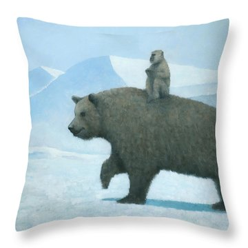 The Journey Throw Pillow by Steve Mitchell