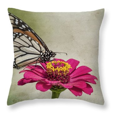 The Joy Of A Butterfly Throw Pillow