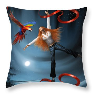 The Joy Of Creating Throw Pillow
