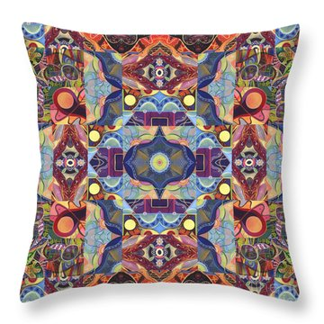 The Joy Of Design Mandala Series Puzzle 1 Arrangement 1 Throw Pillow