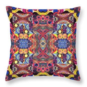The Joy Of Design Mandala Series Puzzle 3 Arrangement 1 Throw Pillow by Helena Tiainen