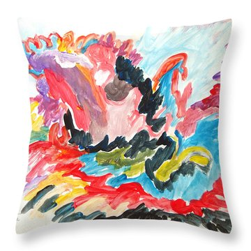 The Joy Of Recovery Throw Pillow by Esther Newman-Cohen