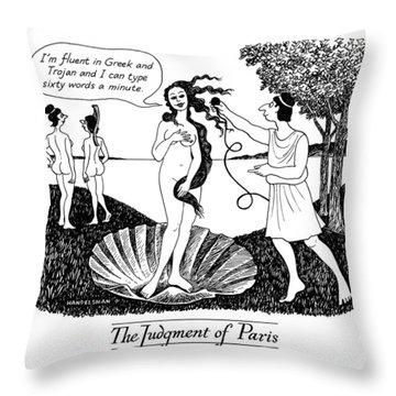 The Judgment Of Paris Throw Pillow