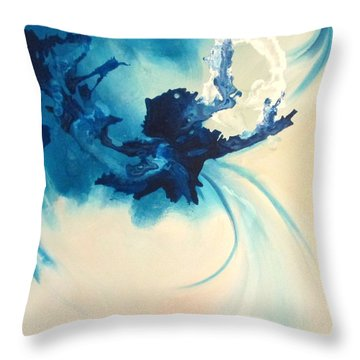 Throw Pillow featuring the painting The Juggler by Mary Kay Holladay