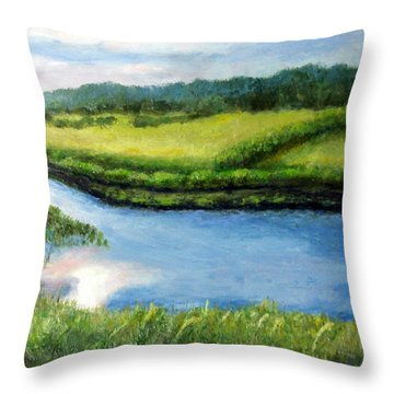 The Kennebecasis River Throw Pillow