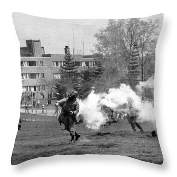 The Kent State Massacre Throw Pillow by Underwood Archives