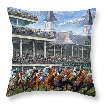 The Kentucky Derby - Churchill Downs Throw Pillow