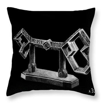 The Key To Erebor Throw Pillow by Kayleigh Semeniuk