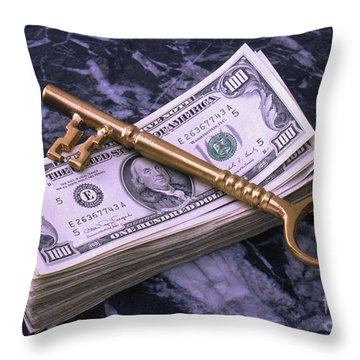 The Key To Financial Success Throw Pillow